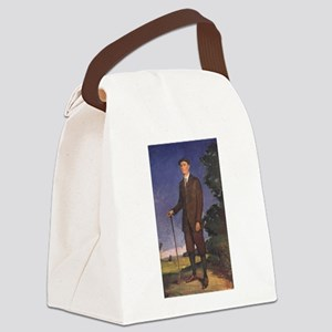 golfing art Canvas Lunch Bag