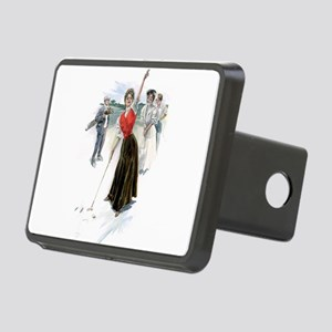 golfing art Hitch Cover