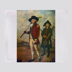 golfing art Throw Blanket