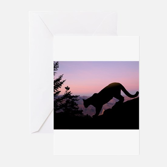 Unique Panther silhouette Greeting Cards (Pk of 20)
