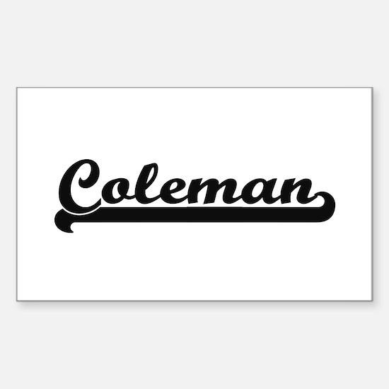 Coleman surname classic retro design Decal