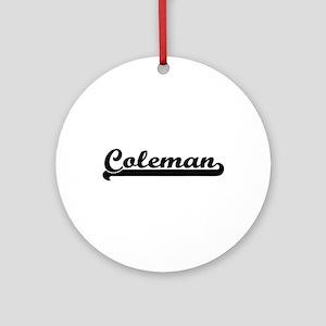 Coleman surname classic retro des Ornament (Round)