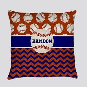 Baseball Blue Red Personalized Everyday Pillow