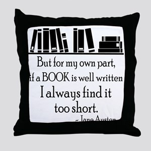 Book Lover Quote Throw Pillow