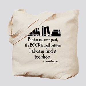 Book Lover Quote Tote Bag