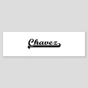 Chavez surname classic retro design Bumper Sticker