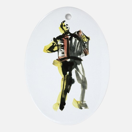 Accordion player Ornament (Oval)
