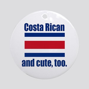 Cute Costa Rican Ornament (Round)