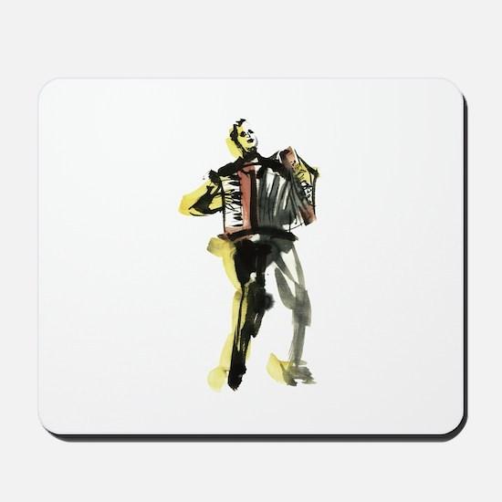Accordion player Mousepad