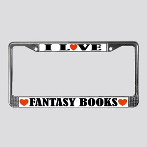 Fantasy Books License Plate Frame