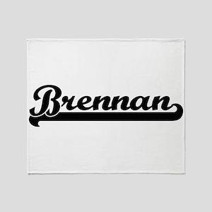 Brennan surname classic retro design Throw Blanket