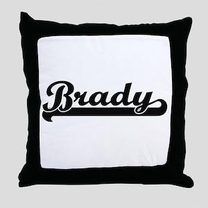 Brady surname classic retro design Throw Pillow