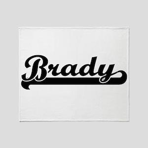 Brady surname classic retro design Throw Blanket