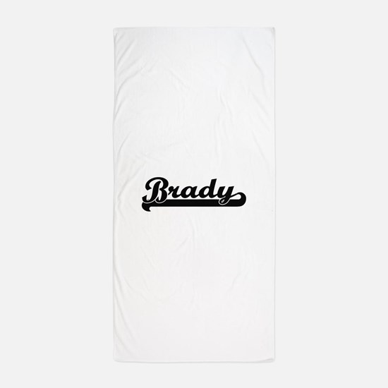 Brady surname classic retro design Beach Towel