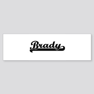 Brady surname classic retro design Bumper Sticker
