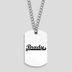 Brady surname classic retro design Dog Tags
