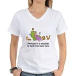 Too Many Cats Women's V-Neck T-Shirt