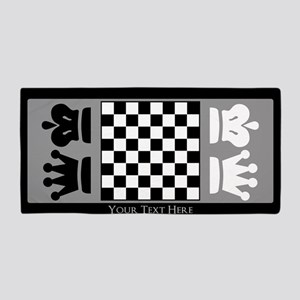 Chessboard Personalized Beach Towel