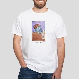 Russian Blue White T-Shirt