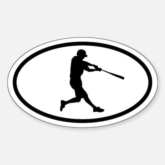 Baseball Hitter Oval Decal