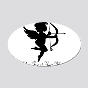 Valentines Day Gifts Cupid 20x12 Oval Wall Decal