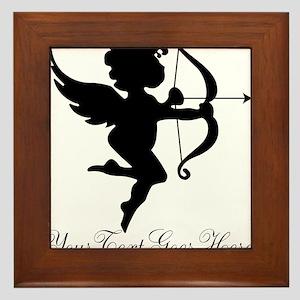 Valentines Day Gifts Cupid Framed Tile