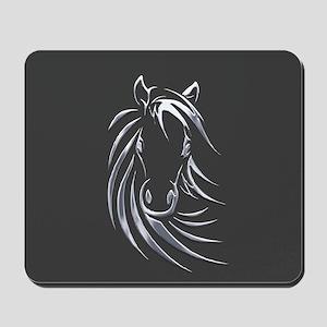 Silver Horse Mousepad