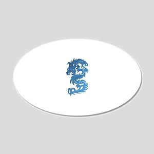 Dragon Blue 20x12 Oval Wall Decal