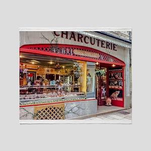 Charcuterie in Lyon Throw Blanket