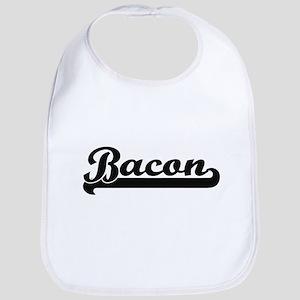 Bacon surname classic retro design Bib