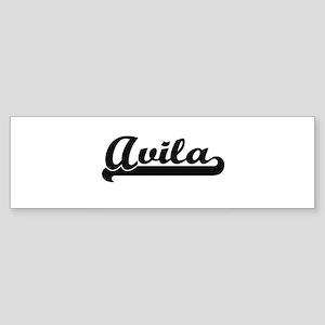 Avila surname classic retro design Bumper Sticker