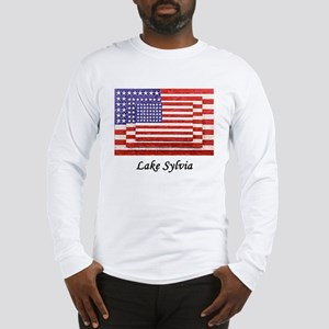 USA 3 Flags Long Sleeve T-Shirt