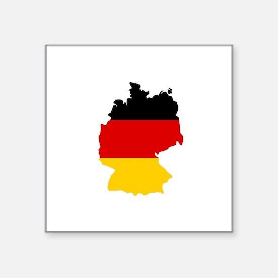 """Unique Germany Square Sticker 3"""" x 3"""""""