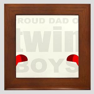 Twins dad Framed Tile