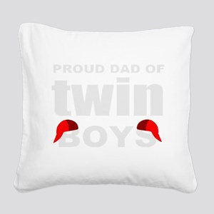 Twins dad Square Canvas Pillow