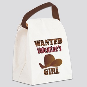 Wanted Valentine Canvas Lunch Bag