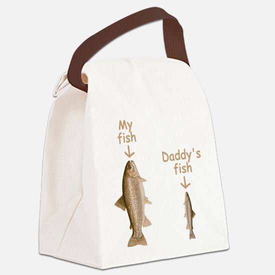My Fish, Daddy's Fish Canvas Lunch Bag