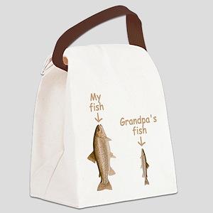 My Fish, Grandpa's Fish Canvas Lunch Bag