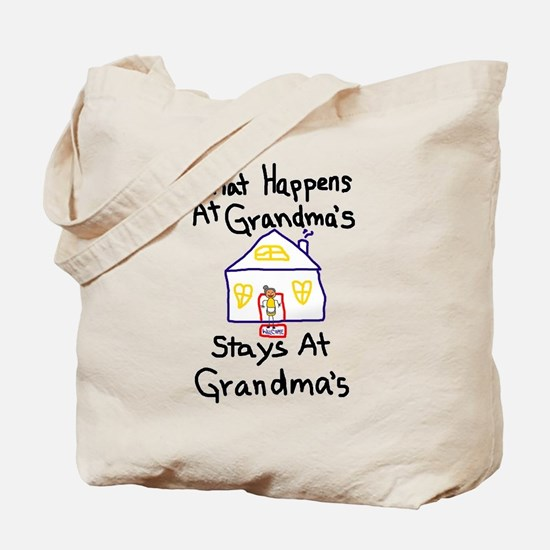 What Happens At Grandma's Tote Bag