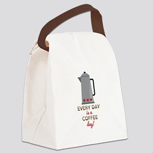 Every day is a coffee day Canvas Lunch Bag