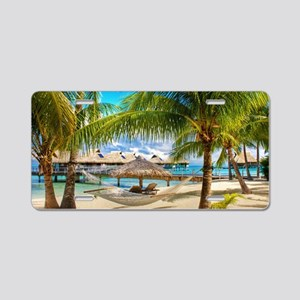 Bungalow And Hammock On Exotic Beach Aluminum Lice
