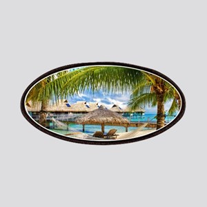 Bungalow And Hammock On Exotic Beach Patch