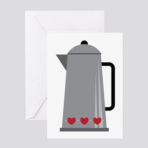Coffee Pot Greeting Cards