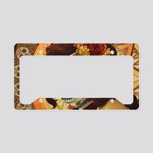 Dia De Los Muertos License Plate Holder
