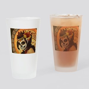 Dia De Los Muertos Drinking Glass