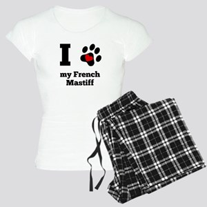 I Heart My French Mastiff Pajamas