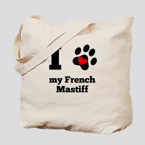 I Heart My French Mastiff Tote Bag
