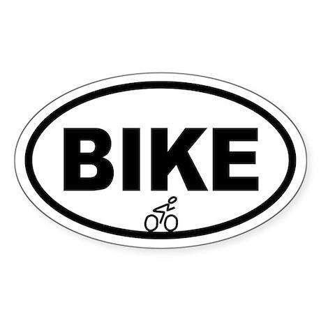 Cycling Biker Oval Sticker