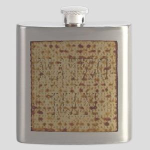 Matza Passover holiday Jewish Traditional Br Flask