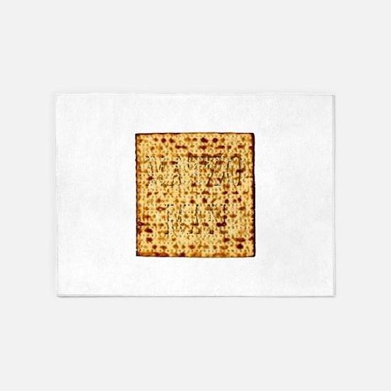 Matza Passover holiday Jewish Tradi 5'x7'Area Rug